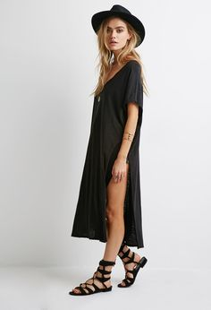 V-Neck Side-Slit Dress   FOREVER21 - 2002246951