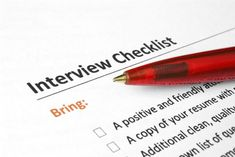 It's important to go on a job interview prepared with everything you need organized and ready to go. Here's what, and what not, to bring to a job interview: http://jobsearch.about.com/od/interviews/a/what-to-bring-to-an-interview.htm