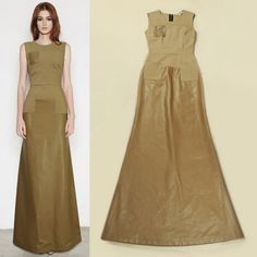 brown leather long dress - Google 검색