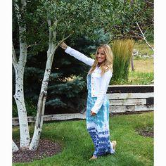Aqua Tie Dye Maxi Dress -   -  Sophie May Clothing  - 1