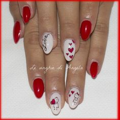 Romantic gel nails for Valentine's Day