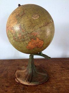 Vintage Hammonds Terrestrial World Globe 9 Cast by eddysmercantile