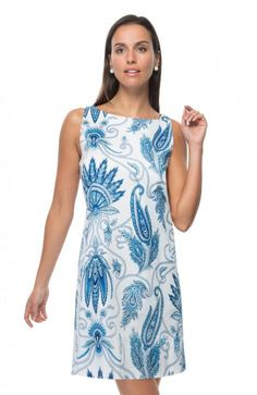 ef90b853b63 Gretchen Scott Mod Squad Plume Dress in Blues - Size XL