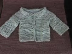 Use an adorable free crochet pattern like this one to make a cute cardigan for a newborn baby. Sport weight yarn is used for a soft touch.