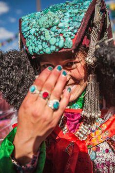 A bride at Sani festival, Zanskar, India