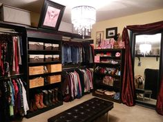This is the Awesome closet the the hubby and I made it is in the extra room that was storing junk:)