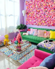 Home Interior Bohemian .Home Interior Bohemian Small Living Room Design, Colourful Living Room, Boho Living Room, Living Room Designs, Bright Living Room Decor, Bedroom Pop Design, Living Room Colors, Diy Furniture Couch, Reclaimed Furniture