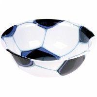 Bowl de plástico para una fiesta de fútbol