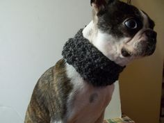 Black Dog Cowl scarf hand crocheted black by BlackRavenCreations