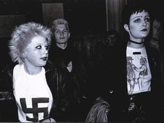 Siouxsie Sioux in infamous Vivienne Westwood tees.  I spy Billy Idol.