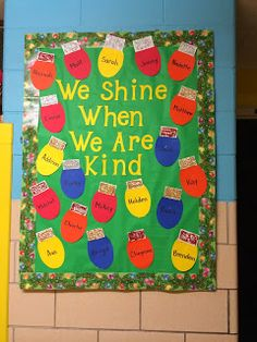 We shine when we are kind winter bulletin board - Education & Career
