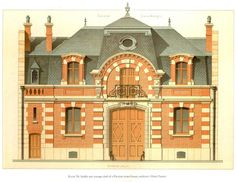 Design for a stable for a Hôtel Particulier, Paris