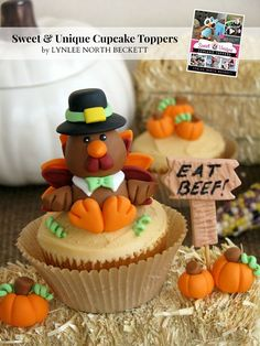 Gobble up the simple step-by-step instructions to create a sweet turkey fondant topper to adorn your upcoming Thanksgiving Day cakes, cupcakes and sweets!