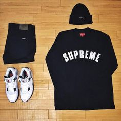 """or: #WDYWTgrid by @mr.ugly95 #mensfashion #outfit #ootd : #Supreme : #Zara : #AirJordan 4 'Cement' #WDYWT for on-feet photos #WDYWTgrid for outfit…"""