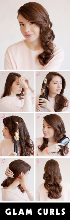 How to get glam curls