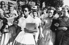 Elizabeth Eckford Sept. 23, 1957 The Little Rock nine Little Rock Central High School