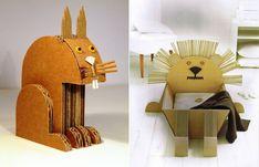 Cardboard zoo by architect Claude Jeantet