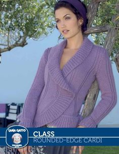 Free Knitting Pattern for a Women's Rounded-Edge Cardigan. Skill Level: Intermediate Feminine ladies cardigan with a rounded-edge. Free Pattern More Patterns Like This! Easy Sweater Knitting Patterns, Knitting Designs, Cardigans For Women, Blouses For Women, Ladies Sweaters, Ladies Blouses, Women's Sweaters, Loom Knitting, Knitting