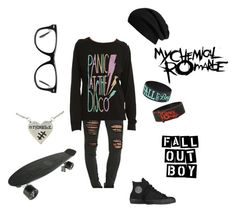 """Emo Trinity"" by nicolashanks21 ❤ liked on Polyvore"