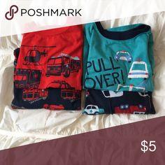 Bundle 3T Boys Pajamas Slightly worn, two sets of boys pajamas. Both pants/short sleeved. Pajamas Pajama Sets
