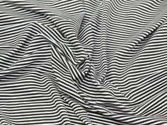 Fabric - Mini striped Viscose Stretch Jersey | Minerva Crafts