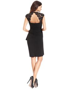 The back of the dress that got away...so pretty ~~Xscape Dress, Cap-Sleeve Lace - Womens Dresses - Macy's