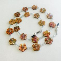 Flower Topaz Eyeglass Chain
