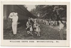 Train at Williams Grove Amusement Park, Cumberland County PA. This used to be a CVRR (Cumberland Valley Railroad) line.