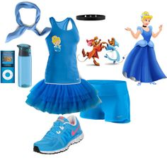 Cinderella running outfit for the Disney half marathon