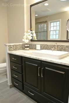 Bertch Bath Cabinetry. Door And Drawer Style: Quebec. Birch Wood, Sable  Stain