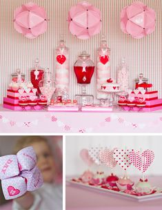 So many ideas on this link! Now imagine this in yellow for a bridal shower with lemonade and adorable sweets with lemon, etc. or recreate it with more pink for a girl's baby shower!!