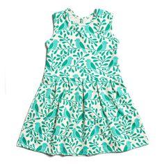 Essex Dress - Birds & Berries Turquoise
