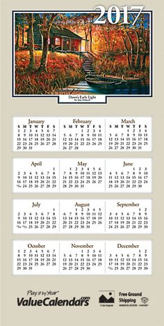 Liberty justice greeting card calendars personalized greeting 2017 woodland retreats z fold calendar 7 12 reheart Choice Image