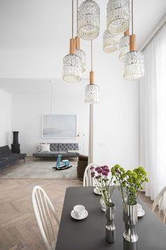 modern Kitchen by destilat Design Studio GmbH Design Studio, Living Room Decor Inspiration, White Apartment, Thrifty Decor, Decorating Blogs, Modern Classic, Grey And White, Living Room Designs, Interior Design