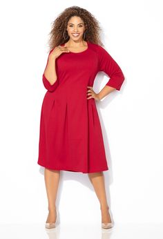 How to wear the color red #PlusSize #Fashion