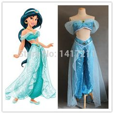 Hot! Costume Adult costume the Aladdin Priness Jasmine cosplay Free shipping(China (Mainland))