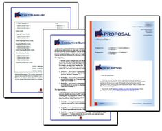 Proposal Pack Financial #2 - Editable and customizable templates in this design theme with a library of sample proposals and Wizard software to get you started right away writing any kind of proposal, quote, report or other business document. Hundreds of other designs also available only from ProposalKit.com (come over, learn more and Like our Facebook page to get a 20% discount)