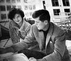 Jackie & JFK, ca mid-1950's.