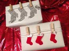 Boots and Stockings Gift Wrap by Beth O'Briant, via Flickr