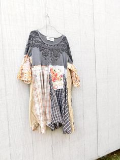 Upcycled Dress Tshirt Dress Patchwork Dress Recycled