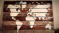 helly / Mapa sveta na dreve