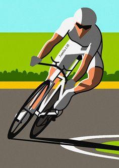 Líneas y Color: Ciclistas