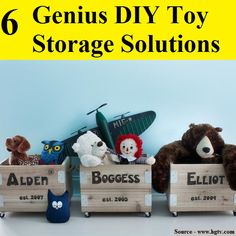 6 Genius DIY Toy Storage Solutions...For more creative tips and ideas FOLLOW https://www.facebook.com/homeandlifetips
