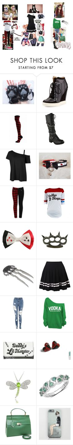 """""""The Gotham Sirens"""" by rhiannablissrollins on Polyvore featuring L.A.M.B., DC Comics, Marvel, Topshop, Dolce Giavonna, Malaika and Balenciaga"""