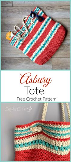 Crochet Handbags Free pattern for the Asbury Tote by Croyden Crochet. - Crochet this super simple and functional Asbury Tote pattern using Bernat Maker Home Dec yarn. Pattern features grommets and cord handles. Bag Crochet, Crochet Purse Patterns, Crochet Market Bag, Crochet Shell Stitch, Crochet Clutch, Tote Pattern, Crochet Handbags, Crochet Purses, Free Crochet