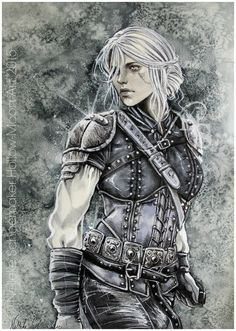 Witcher - Ciri finished by Hollow-Moon-Art.deviantart.com on @DeviantArt