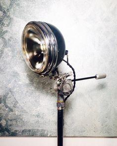 Vintage Americana! Harley Davidson headlight lamp!  https://www.etsy.com/listing/496278415/vintage-harley-davidson-healight-lamp
