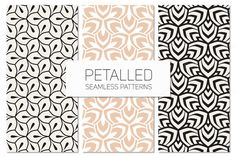 Petalled Seamless Patterns Set by Curly_Pat on Creative Market