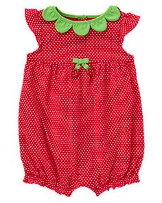 Strawberry Dot Bubble One-Piece - Gymboree - is it awful that I want to dress my little girl as a strawberry? Lol
