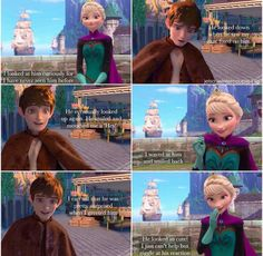 Jelsa's first meeting before they became The Snow Queen and Jack Frost. ❄💙❄ They were just Crown Princess Elsa and Jackson Overland. Jack Frost And Elsa, Frozen Elsa And Anna, Disney Frozen, Alternative Disney Princesses, All Disney Princesses, Descendants Wicked World, Carlos Descendants, Jelsa, Percy Jackson Lightning Thief